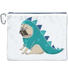 pugasaurus Canvas Cosmetic Bag (XXXL) by TailWags