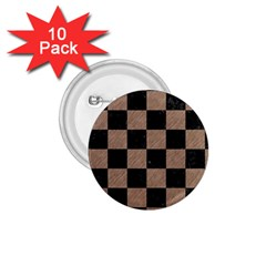 Square1 Black Marble & Brown Colored Pencil 1 75  Button (10 Pack)  by trendistuff