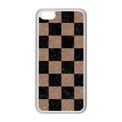 Square1 Black Marble & Brown Colored Pencil Apple Iphone 5c Seamless Case (white) by trendistuff