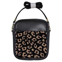 Skin5 Black Marble & Brown Colored Pencil (r) Girls Sling Bag by trendistuff