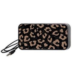 Skin5 Black Marble & Brown Colored Pencil (r) Portable Speaker (black) by trendistuff