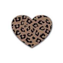 Skin5 Black Marble & Brown Colored Pencil Rubber Heart Coaster (4 Pack) by trendistuff