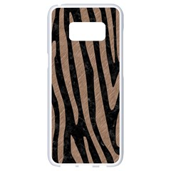 Skin4 Black Marble & Brown Colored Pencil (r) Samsung Galaxy S8 White Seamless Case by trendistuff
