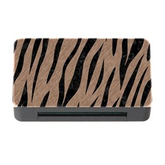 Skin3 Black Marble & Brown Colored Pencil (r) Memory Card Reader With Cf by trendistuff