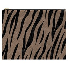 Skin3 Black Marble & Brown Colored Pencil (r) Cosmetic Bag (xxxl) by trendistuff