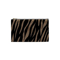 Skin3 Black Marble & Brown Colored Pencil Cosmetic Bag (small) by trendistuff