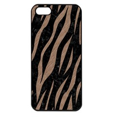Skin3 Black Marble & Brown Colored Pencil Apple Iphone 5 Seamless Case (black) by trendistuff