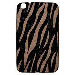 Skin3 Black Marble & Brown Colored Pencil Samsung Galaxy Tab 3 (8 ) T3100 Hardshell Case  by trendistuff