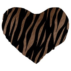 Skin3 Black Marble & Brown Colored Pencil Large 19  Premium Flano Heart Shape Cushion by trendistuff