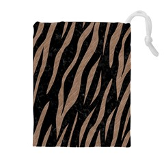 Skin3 Black Marble & Brown Colored Pencil Drawstring Pouch (xl) by trendistuff