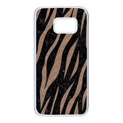 Skin3 Black Marble & Brown Colored Pencil Samsung Galaxy S7 White Seamless Case by trendistuff