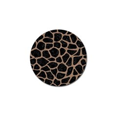 Skin1 Black Marble & Brown Colored Pencil (r) Golf Ball Marker (4 Pack) by trendistuff