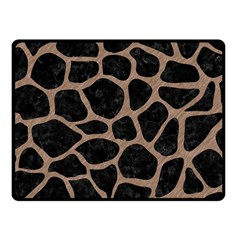 Skin1 Black Marble & Brown Colored Pencil (r) Fleece Blanket (small) by trendistuff