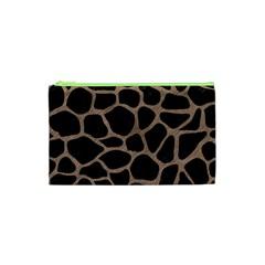 Skin1 Black Marble & Brown Colored Pencil (r) Cosmetic Bag (xs) by trendistuff