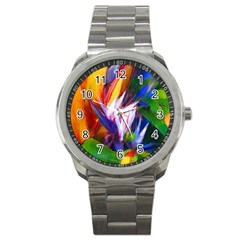 Palms02 Sport Metal Watch by psweetsdesign