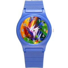 Palms02 Round Plastic Sport Watch (s) by psweetsdesign