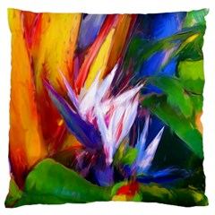Palms02 Large Flano Cushion Case (one Side) by psweetsdesign
