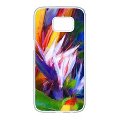 Palms02 Samsung Galaxy S7 Edge White Seamless Case by psweetsdesign
