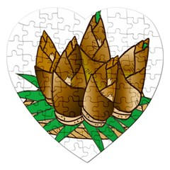 Young Bamboo Jigsaw Puzzle (heart) by Mariart