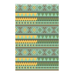 Bezold Effect Traditional Medium Dimensional Symmetrical Different Similar Shapes Triangle Green Yel Shower Curtain 48  X 72  (small)  by Mariart