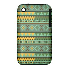 Bezold Effect Traditional Medium Dimensional Symmetrical Different Similar Shapes Triangle Green Yel Iphone 3s/3gs by Mariart