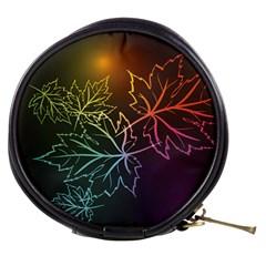 Beautiful Maple Leaf Neon Lights Leaves Marijuana Mini Makeup Bags by Mariart