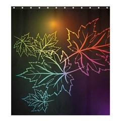 Beautiful Maple Leaf Neon Lights Leaves Marijuana Shower Curtain 66  X 72  (large)  by Mariart