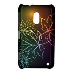 Beautiful Maple Leaf Neon Lights Leaves Marijuana Nokia Lumia 620 by Mariart