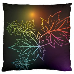 Beautiful Maple Leaf Neon Lights Leaves Marijuana Standard Flano Cushion Case (one Side) by Mariart