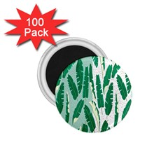 Banana Leaf Green Polka Dots 1 75  Magnets (100 Pack)  by Mariart