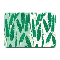 Banana Leaf Green Polka Dots Plate Mats by Mariart