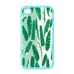 Banana Leaf Green Polka Dots Apple Iphone 4 Case (color) by Mariart