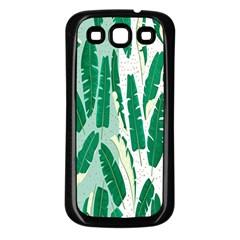 Banana Leaf Green Polka Dots Samsung Galaxy S3 Back Case (black) by Mariart
