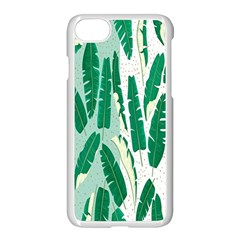 Banana Leaf Green Polka Dots Apple Iphone 7 Seamless Case (white) by Mariart