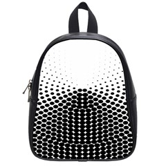 Black White Polkadots Line Polka Dots School Bags (small)  by Mariart