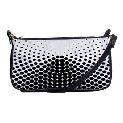 Black White Polkadots Line Polka Dots Shoulder Clutch Bags by Mariart
