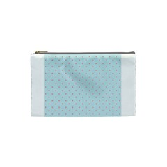 Blue Red Circle Polka Cosmetic Bag (small)  by Mariart