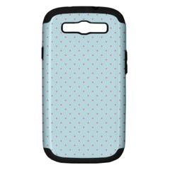Blue Red Circle Polka Samsung Galaxy S Iii Hardshell Case (pc+silicone) by Mariart