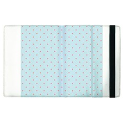 Blue Red Circle Polka Apple Ipad 2 Flip Case by Mariart