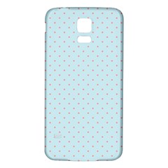 Blue Red Circle Polka Samsung Galaxy S5 Back Case (white) by Mariart