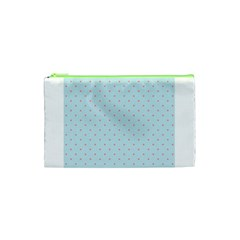Blue Red Circle Polka Cosmetic Bag (xs) by Mariart