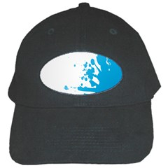 Blue Stain Spot Paint Black Cap by Mariart