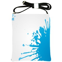 Blue Stain Spot Paint Shoulder Sling Bags by Mariart