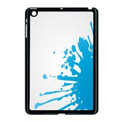 Blue Stain Spot Paint Apple Ipad Mini Case (black) by Mariart