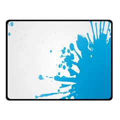 Blue Stain Spot Paint Double Sided Fleece Blanket (small)  by Mariart