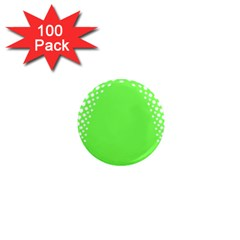 Bubble Polka Circle Green 1  Mini Magnets (100 Pack)  by Mariart
