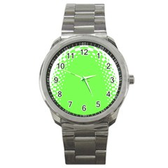 Bubble Polka Circle Green Sport Metal Watch by Mariart