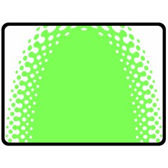 Bubble Polka Circle Green Fleece Blanket (large)  by Mariart