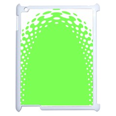 Bubble Polka Circle Green Apple Ipad 2 Case (white) by Mariart