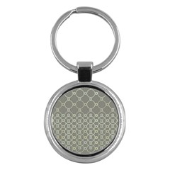 Circles Grey Polka Key Chains (round)  by Mariart